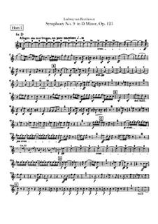 Вся симфония: Партии первой и второй валторн by Людвиг ван Бетховен