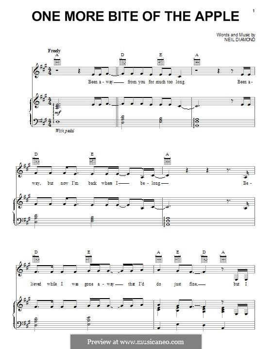 One More Bite of the Apple: Для голоса и фортепиано (или гитары) by Neil Diamond
