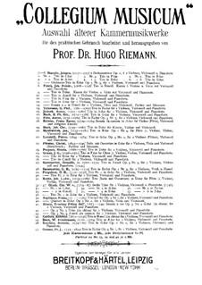 Sonata da Camera a tre per due violini e basso continuo, Op.3 No.9: Партитура by Эваристо Феличе Даль Абако