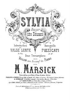 Сильвия : Интродукция и вальс, для скрипки и фортепиано by Лео Делиб
