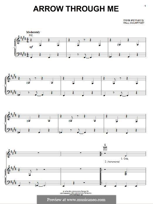 Arrow Through Me: Для голоса и фортепиано (или гитары) by Paul McCartney