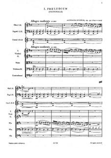 Чешская сюита ре мажор, B.93 Op.39: Партитура by Антонин Дворжак