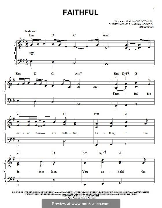 Faithful: Для фортепиано by Chris Tomlin, Ed Cash, Nathan Nockels, Christy Nockels