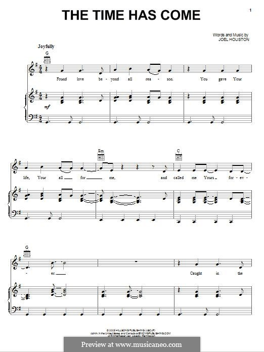 The Time Has Come: Для голоса и фортепиано (или гитары) by Joel Houston