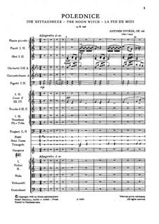 Полуденница, B.196 Op.108: Партитура by Антонин Дворжак