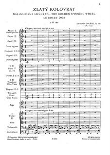 Золотая прялка, B.197 Op.109: Партитура by Антонин Дворжак