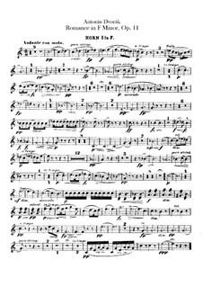 Романс фа минор, B.39 Op.11: Партии валторн by Антонин Дворжак