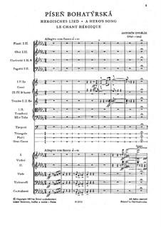 Богатырская песнь, B.199 Op.111: Богатырская песнь by Антонин Дворжак