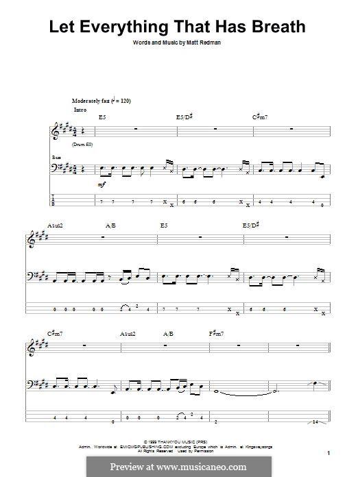 Let Everything That Has Breath: Для бас-гитары с табулатурой by Matt Redman