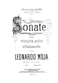 Соната для скрипки, альта и виолончели, Op.22: Партия скрипки by Леонардо Можа