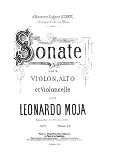 Соната для скрипки, альта и виолончели, Op.22: Партия альта by Леонардо Можа