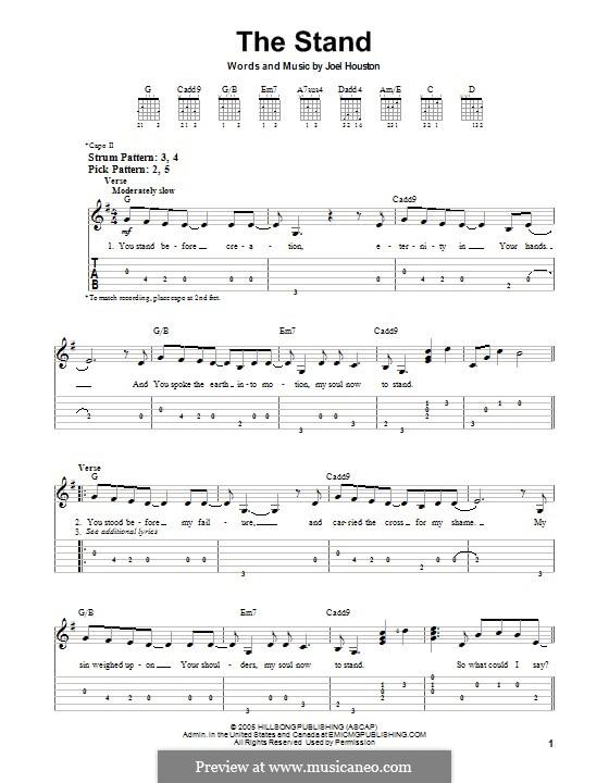 The Stand: Гитарная табулатура by Joel Houston