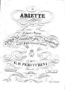 Шесть ариетт, Op.4: Шесть ариетт by Джованни Баттиста Перуккини