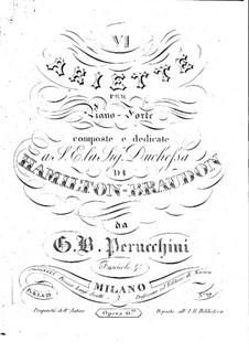 Шесть ариетт, Op.6: Шесть ариетт by Джованни Баттиста Перуккини