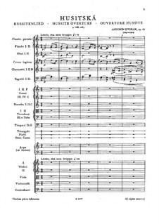 Гуситская увертюра, B.132 Op.67: Партитура by Антонин Дворжак