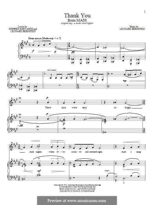 Thank You: Для голоса и фортепиано by Леонард Бернстайн
