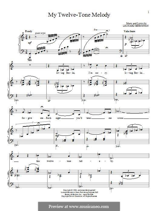My Twelve-Tone Melody: Для голоса и фортепиано by Леонард Бернстайн