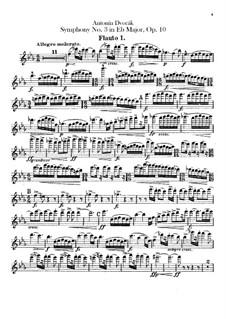 Симфония No.3 ми-бемоль мажор, B.34 Op.10: Партии флейт by Антонин Дворжак