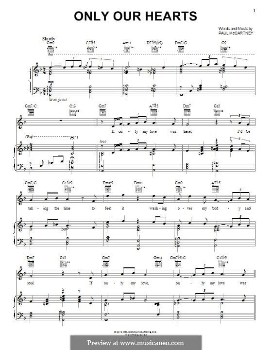Only Our Hearts: Для голоса и фортепиано (или гитары) by Paul McCartney