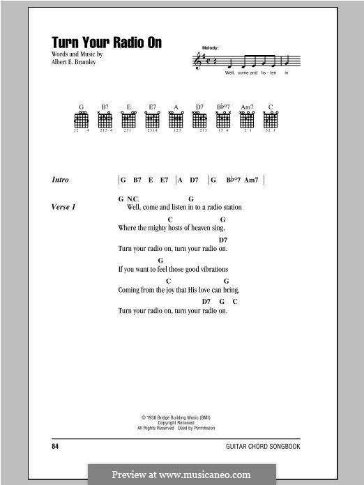 Turn Your Radio On: Мелодия by Albert E. Brumley