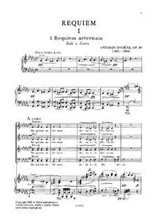 Реквием си-бемоль минор, B.165 Op.89: Клавир с вокальной партией by Антонин Дворжак