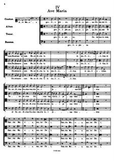 Аве Мария: Вокальная партитура by Томас Луис де Виктория