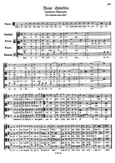 Nunc dimittis. Canticum Simeonis: Nunc dimittis. Canticum Simeonis by Томас Луис де Виктория