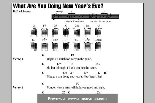 What are You Doing New Year's Eve?: Текст, аккорды by Frank Loesser