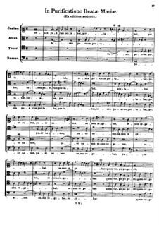 In Purificatione Beatae Mariae. Senex puerum portabat: In Purificatione Beatae Mariae. Senex puerum portabat by Томас Луис де Виктория