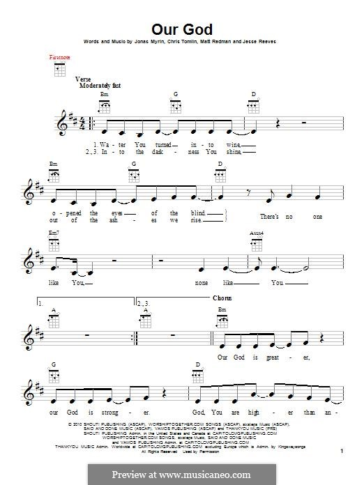 Our God: Для укулеле by Chris Tomlin, Jesse Reeves, Jonas Myrin, Matt Redman