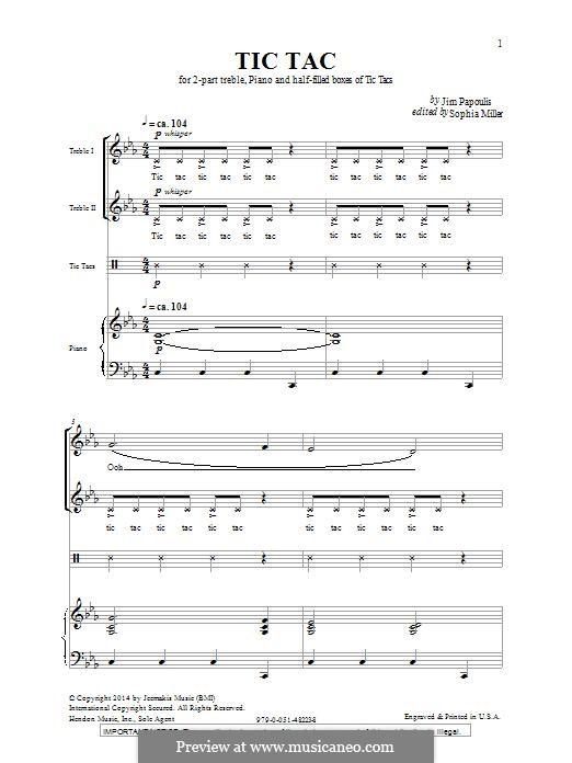 Tic Tac: Для голоса и фортепиано by Jim Papoulis