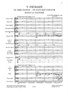 Среди природы, B.168 Op.91: Партитура by Антонин Дворжак