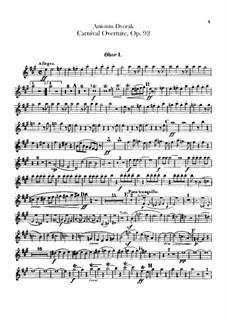Карнавал, B.169 Op.92: Партии гобоев и английского рожка by Антонин Дворжак