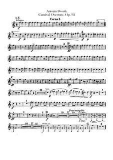 Карнавал, B.169 Op.92: Партии валторн by Антонин Дворжак