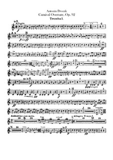 Карнавал, B.169 Op.92: Партии труб by Антонин Дворжак