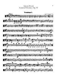 Карнавал, B.169 Op.92: Партии тромбонов и тубы by Антонин Дворжак