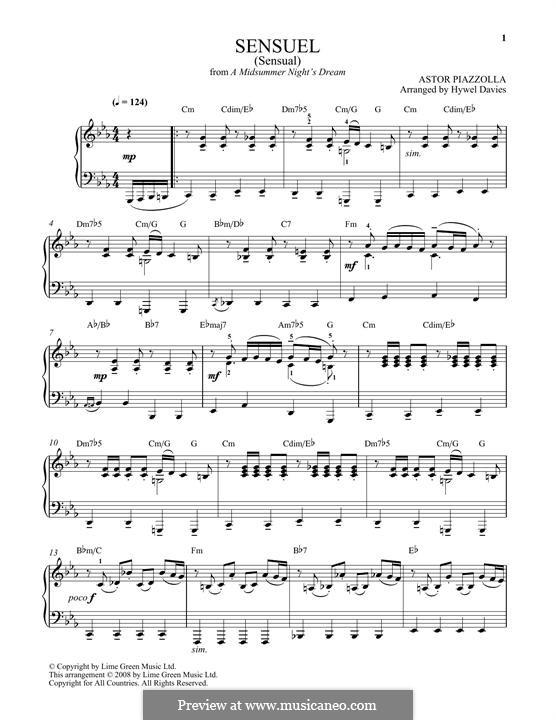 Sensuel: Для фортепиано by Астор Пьяццолла