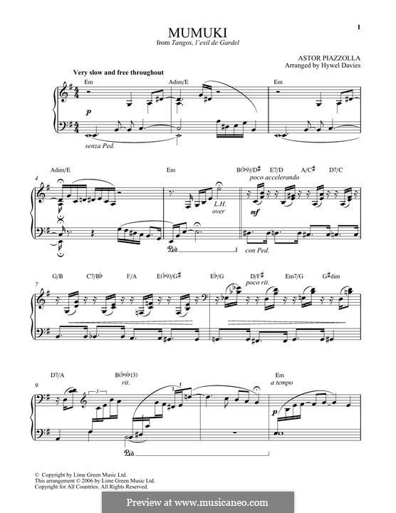 Mumuki: Для фортепиано by Астор Пьяццолла