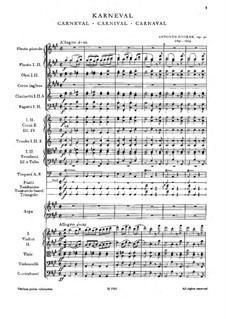 Карнавал, B.169 Op.92: Партитура by Антонин Дворжак