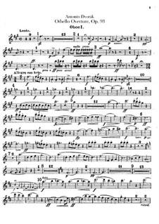 Отелло, B.174 Op.93: Партии гобоев и английского рожка by Антонин Дворжак