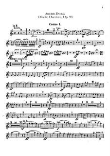 Отелло, B.174 Op.93: Партии валторн by Антонин Дворжак