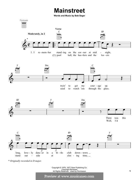 Mainstreet: Для укулеле by Bob Seger