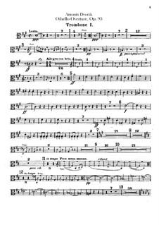 Отелло, B.174 Op.93: Партии тромбонов и тубы by Антонин Дворжак