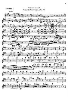 Отелло, B.174 Op.93: Скрипка I by Антонин Дворжак