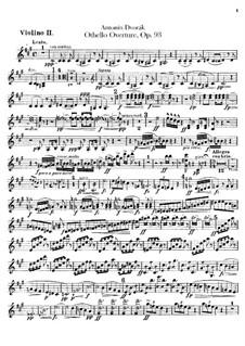 Отелло, B.174 Op.93: Скрипка II by Антонин Дворжак