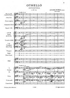 Отелло, B.174 Op.93: Партитура by Антонин Дворжак
