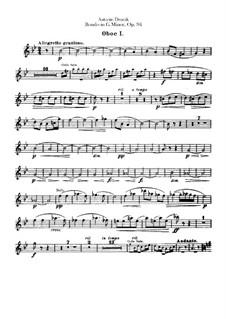 Рондо соль минор, B.181 Op.94: Партии гобоев by Антонин Дворжак