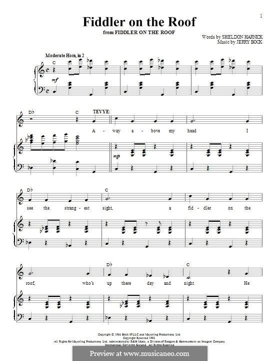 Fiddler on the Roof: Для голоса и фортепиано by Jerry Bock
