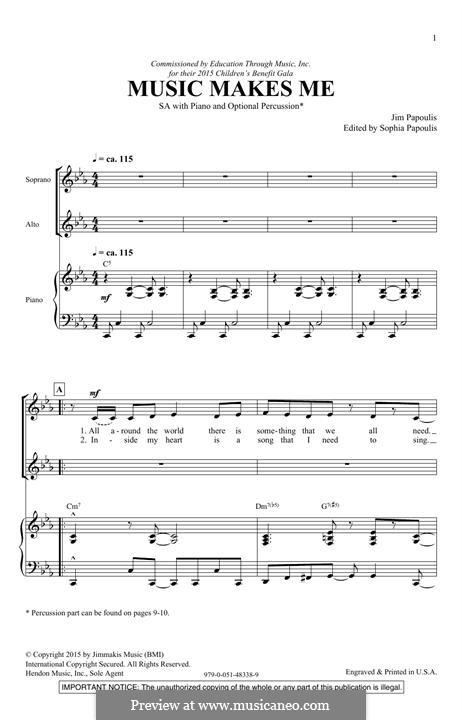Music Makes Me: Для смешанного хора by Jim Papoulis