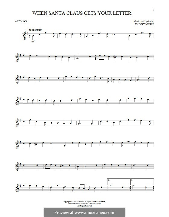 When Santa Claus Gets Your Letter: Для альтового саксофона by Johnny Marks